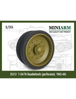 MINIARM, 1/35 , B35212 , T-34/76 Road wheels set Perforated tires (1942-44)