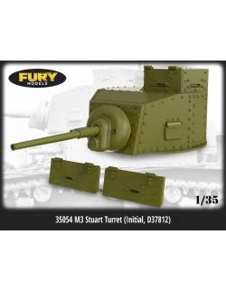 FURY MODELS 1/35, 35054, M3 STUART Turret (Initial, D37812) for TAMIYA kit