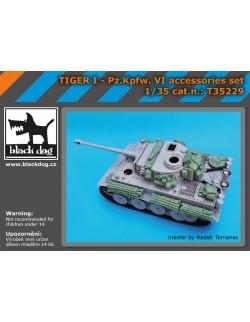 Tiger I Pz.Kpfw VI accessories set , T35229, BLACK DOG, 1:35