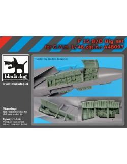F-15 B/D big set for G.W.H., cat.n.:A48097 , BLACK DOG, 1:48