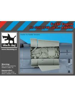 F-14 D engine for AMK, cat.n.:A48098 , BLACK DOG, 1:48