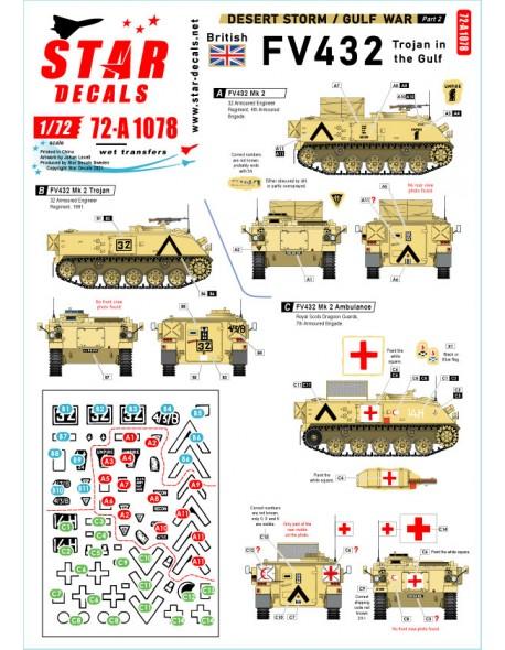 Star Decals 72-A1078, Desert Storm NO 2. British FV 432 Trojan in the Gulf , 1/72