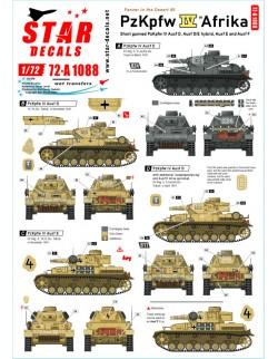 Star Decals 72-A1088, Panzer in the Desert NO 5. PzKpfw IV Ausf D, D/E/F1, 1/72