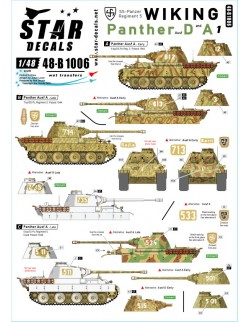 Star Decal 48-B1007, Wiking NO 2. Panthers of SS-Panzer Reg. 5 Wiking, SCALE 1/48