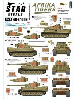 Star Decal 48-B1008, Afrika Tigers. Tigers in Tunisia 1942-43, SCALE 1/48