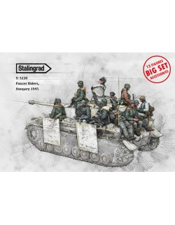 STALINGRAD 1:35, Panzer Riders, Hungary 1945 Big Set 13 figures and accessories , WWI, S-3220