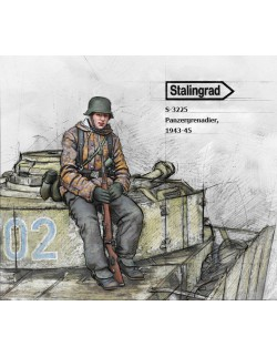 STALINGRAD MINIATURES, 1:35, S-3225 New! Panzergrenadier, 1943-45 (1 FIG.)