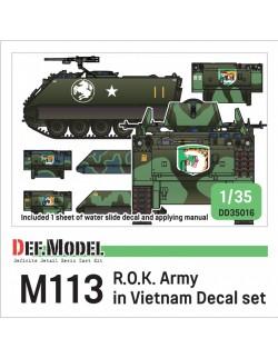DEF.MODEL, DD35016, ROK Army M113 APC decal set in Vietnam, 1:35