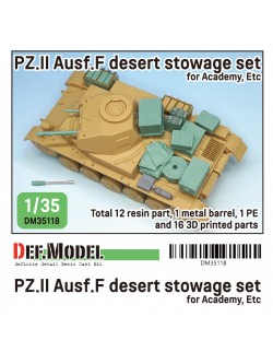 DEF. MODEL ,DM35118, WWII German Pz.II Ausf.F Desert stowage set for Academy kit,1:35